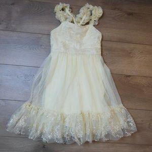 WEISSMAN Ivory Tulle Dance Costume Dress Large